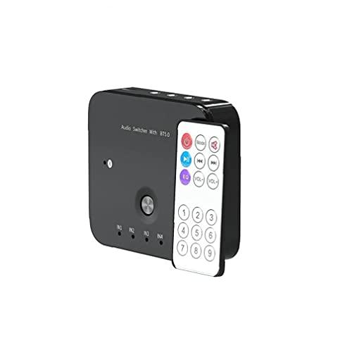 Adaptador de audio inalámbrico, receptor de audio inalámbrico 3 en 1 OUT AUDIO ADAPTADOR 3.5mm Switter AUX AUX con control remoto