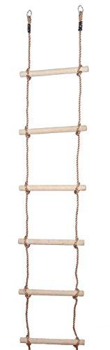 OTITU Just Fun Escalera de Cuerda con 6 peldaños de Madera