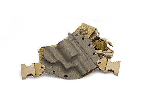 GunfightersINC Kenai Chest Holster for .460/.500 X-Frame Revolvers, MAS Grey/Coyote, Right Hand (Gen2)