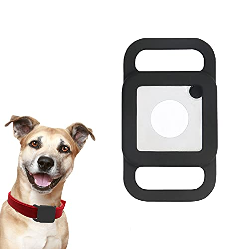 Lopnord Silicone Case Cover for Tile Mate 2020 Tracker, 1 Pack Dog Collar Holder Compatible with Tile Mate 2020, Anti-Lost Protective Case for Pet Keychain Backpack Bag (GPS Finder Not Included)