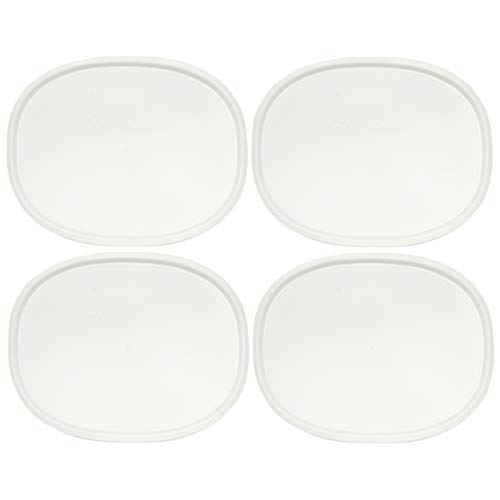 Corningware F-12-PC 1075645 1.5qt Oval French White Lid - 4 Pack -  F-12-WH_4