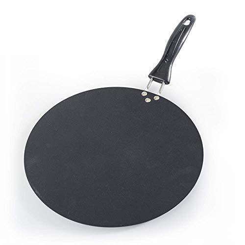 Plancha redonda de hierro de 30 cm para uso doméstico, sartén antiadherente para crepes para tortilla, huevo, tortilla, cocina de inducción de gas para freír, utensilios de cocina
