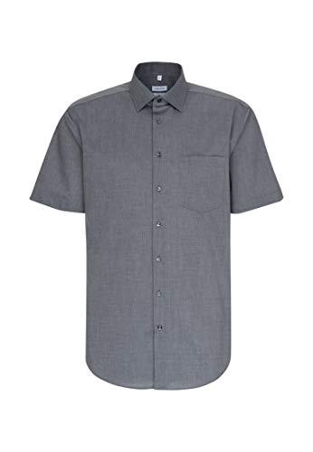 Seidensticker Herren Business und Freizeit Hemd Regular Fit, Grau (Grau 67), 43 (Herstellergröße: X-Large)