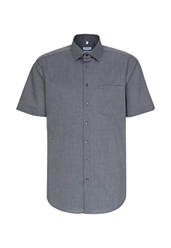 Seidensticker Herren Business und Freizeit Hemd Regular Fit, Grau (Grau 67), 46 (Herstellergröße: XX-Large)