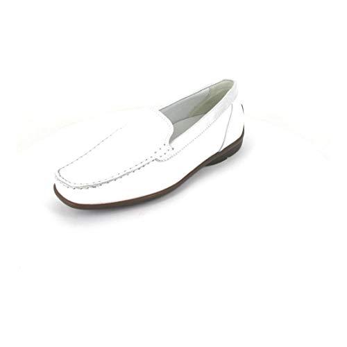 Mokassin Harriet - Correpasillos, color blanco y plateado, color Blanco, talla 43 EU