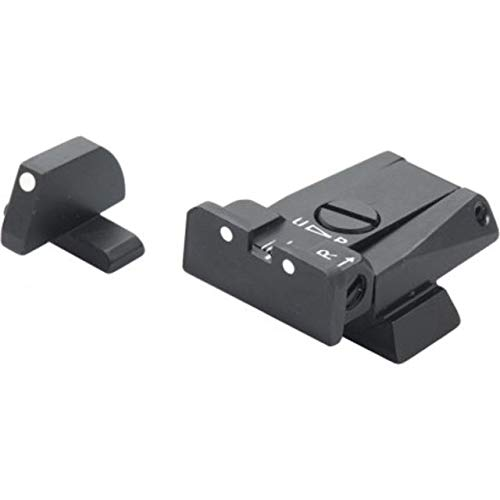 Fantastic Deal! LPA Fully Adjustable White 2 Dot Sight Set for H&K USP 40 S&W, USP 45 SPR49HK30