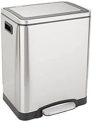 Amazon Basics - Cubo de basura, 2 cubos de 15 L