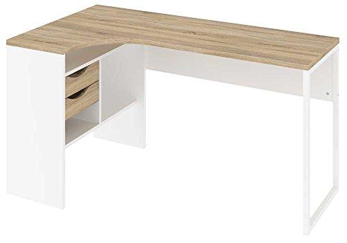 Tvilum Function Plus Schreibtisch Eckschreibtisch, Holz, Oak/White, Large