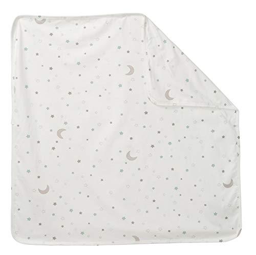 """roba Babydecke """"Sternenzauber"""", Jerseydecke aus 100% Baumwolle für Mädchen und Jungen, Kinderwagendecke 80x80 cm, Kinderdecke zum Kuscheln, Krabbeln & Spielen"""