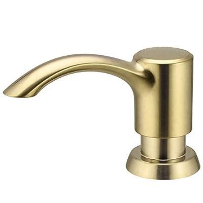 SAMODRA Soap Dispenser for Bathroom Kitchen Sink with Large 17 OZ Soap Bottle((Brushed Gold)