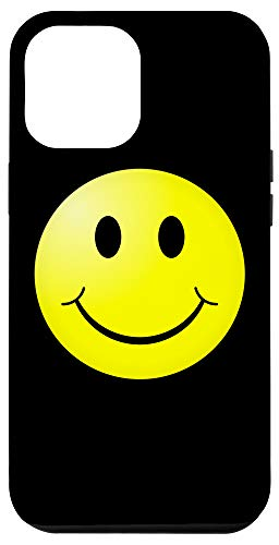 iPhone 12 Pro Max Happy Yellow Smiley Face Emoji Phone Case