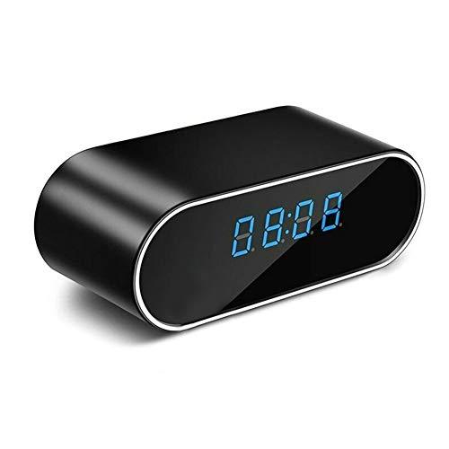 Shenruifa multifunción LED reloj despertador, 1080 p HD reloj cámara WiFi control ir noche alarma videocámara reloj digital cámara de vídeo
