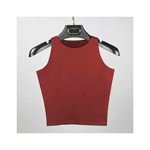 Sensheng Tank Top Mujeres algodón Atractivo de Cultivos Camisa Corta pechugón Multicolor sin Mangas…
