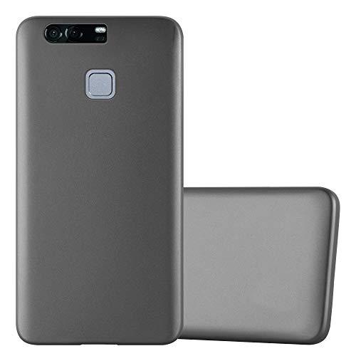 Cadorabo Funda para Huawei P9 Plus en Metallic Gris - Cubierta Proteccíon de Silicona TPU Delgada e Flexible con Antichoque - Gel Case Cover Carcasa Ligera