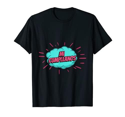 Mi Cumpleanos Fiesta Amigos Chico Chica Hombre Mujer Regalo Camiseta