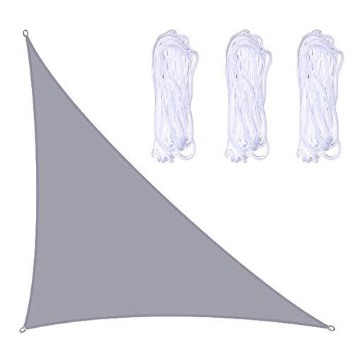 Toldos Exterior 1 Unids Triángulo Sol Sombra Vela 95% UV Bloqueo Al Aire Libre Patio Pool Cover Net Shades para Patio(Size:3×3×4.3m/10×10×14.1ft,Color:A04)
