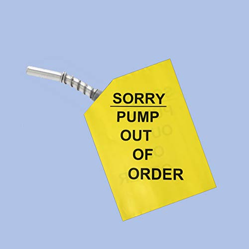 Sorry Pump Out of Order Service Gas Cover Reusable Nozzle Hood Bag (6 Pack)