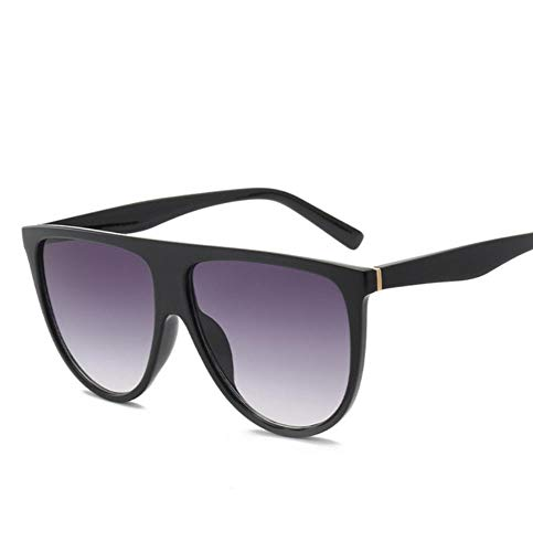 Gafa de sol Gafas de sol Mujer Vintage Retro Flat Top Thin Shadow Gafas de sol Square Pilot Designer Large Shades F