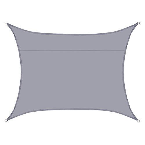BBVS Vela Parasol de poliéster 4 * 5m,toldo con Parasol Anti-Ultravioleta, Aislamiento térmico y antienvejecimiento, dedicado a la Piscina de jardín (Gris)