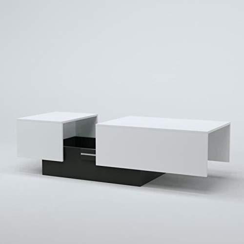 Générique Soda Table Basse Style Contemporain Blanc L 116-150 x l 51 cm