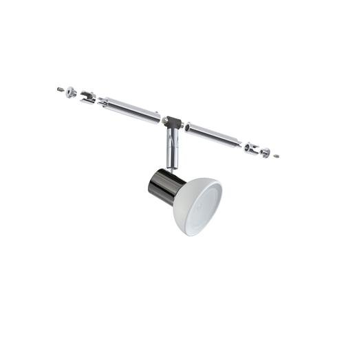 Paulmann 94046 WiRa Halogenlampe Seil Schiene System CombiSystems Spot Sheela 1x35W GU5,3 Schwarzchrom/Opal 12V Metal