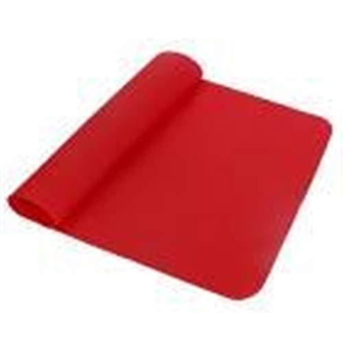 LZFLZ Hitzebeständige Matte Coaster Tisch Waschbar Langlebig rutschfeste Silikon Praktische Küchenmatte (Color : Red)