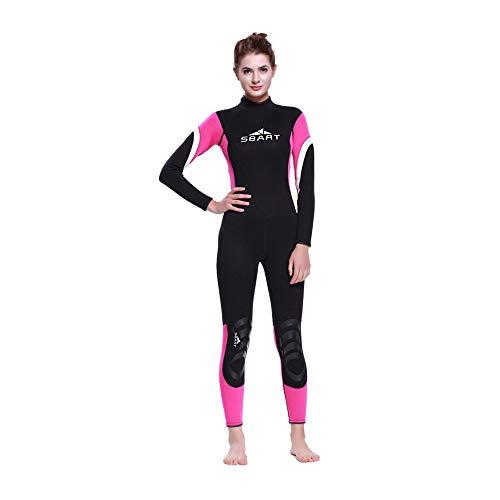 HONGSHENG1 3MM Gummi Taucheranzug Paar Modelle Surfen Kleidung Warmen Winter Schwimmen Langarm-Badeanzug Aus Einem Stück Verdickt Quallen Kleidung,Female,L