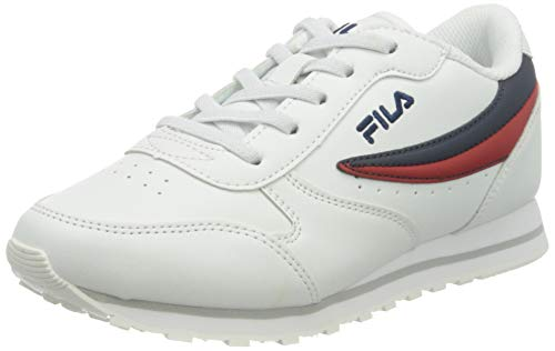 FILA Orbit kids zapatilla Unisex niños, blanco (White/Dress Blue), 35 EU