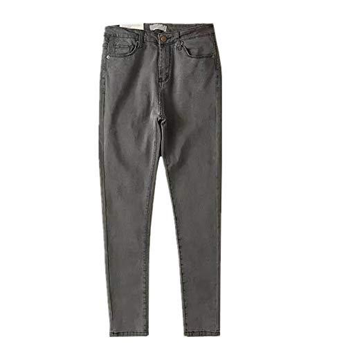 N\P Jeans Donna Plus Size Nero Mom Jeans Femme Matita Denim Grigio1 27 W