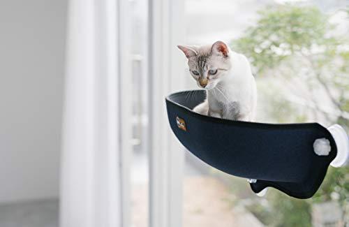 K&HWINDOWBEDKITTYSILLRED/KHBD6294RD/ウィンドウベッド/ネジ式吸盤猫用ベッド/レッド色/窓が好きな愛猫へ/ネジ式吸盤で窓にしっかりと固定ができます。レッド猫用23x69x28センチメートル(x1)