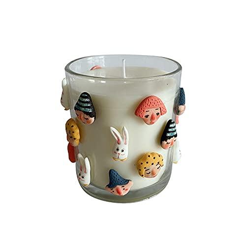 rongshengxinye Vela de aromaterapia hecha a mano con forma de vela de aromaterapia, caja de regalo de cera para novia, novia, cumpleaños, confesión de deseos, cera interior (color D: D)