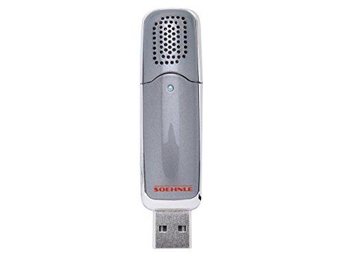 Soehnle mobiler Aroma Diffuser, Lufterfrischer mit USB Anschluss für den Arbeitsplatz oder im Auto, Raumbeduftung, dezente und knotinuierliche Duftverteilung, grau