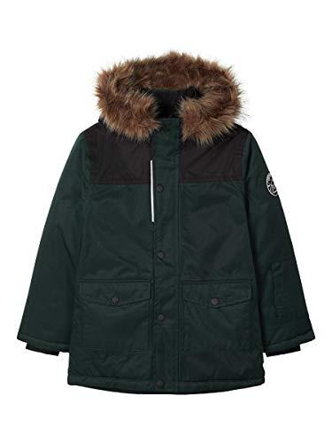 Name It NKMSNOW10 Jacket 3FO Abbigliamento da Neve, Darkest Spruce, 146 cm Bambino