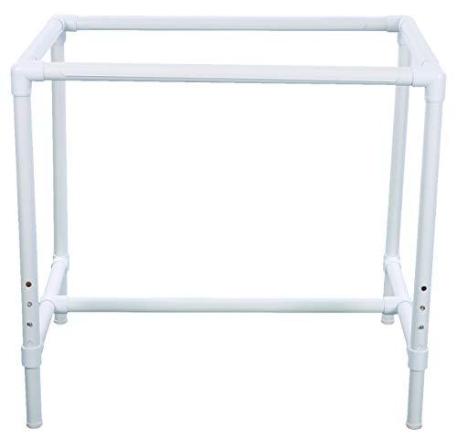 Dritz 3129 Quilter's Floor Quilt Frame, Adjustable, White