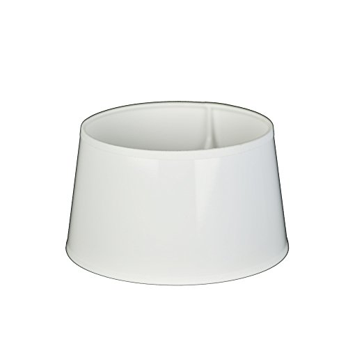 Lampenschirm für Tischleuchte in Rund Lack Weiß PVC TL 20-17-11