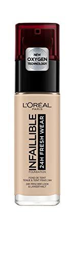 L'Oréal Paris - Fond de Teint Fluide Infaillible 24h Fresh Wear - Tous Types de Peaux - Teinte : Ivoire Rosé (25) - 30 ml