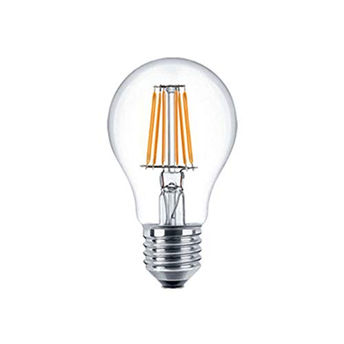 Bombilla LED E27 en forma de pera, vintage, filamento retro, 6 W equivalente a 50 W, regulable, blanco cálido, 1 paquete de LED Kobos