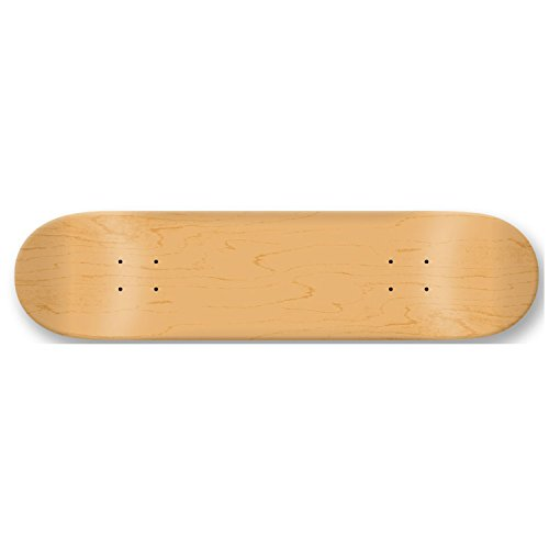 Blank Decks Warning Skateboard Deck (Natural)