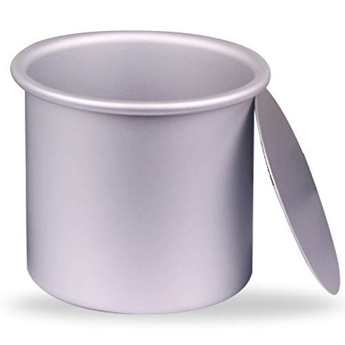 ZSWQ Runde Kuchenform aus eloxiertem Aluminium, 10,2 x 10,2 cm