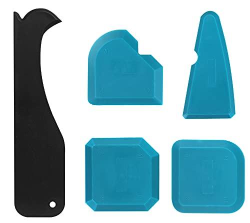 Eokeey Silikonentferner,5 Stück Fugenglätter Set, Silikon Caulking Werkzeug Kit, Silikon Schaber Silikonentferner Dichtungswerkzeuge für Küche Bad Boden Fliesen
