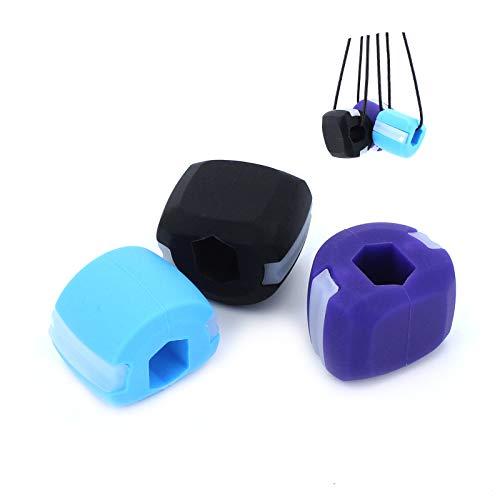 TAECOOOL - Dispositivo per esercizi facciali per doppio mento, muscoli del viso, mascella, sfera fitness unisex per allenamento muscolare del mento e lifting facciale, 3 pezzi