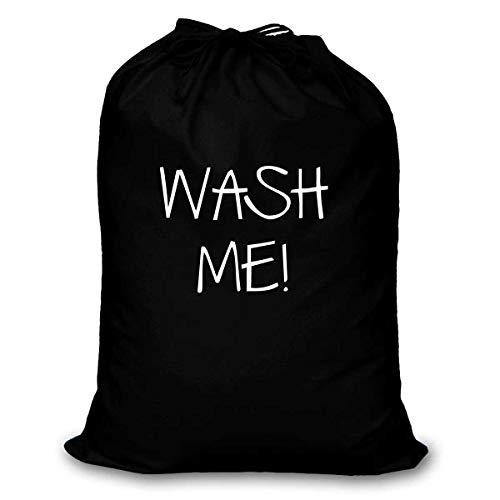 Waszak Wash Me 100 Katoen Verkrijgbaar in Zwart Rood Wit of Blauw Wasmand