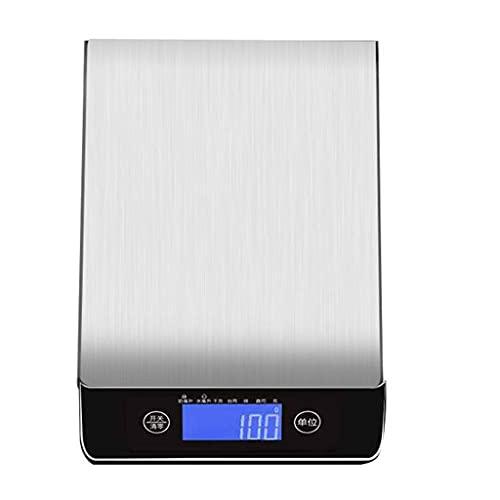 Dzwyc Pesador de cochera de Acero Inoxidable de Metal de Metal de Metal de Metal de Metal Que Pesa 5kg / 1g 10kg / 1g 15kg / 1g (tamaño : 10kg/1g)