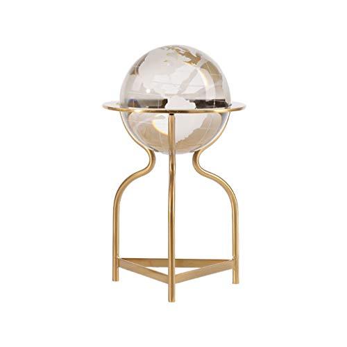 Adivinación con bola de cristal Globo de cristal de la decoración 3D, Tierra Modelo bola con soporte metálico, adecuado for niños K9 bola de cristal, for la decoración casera de cumpleaños Bola de cri