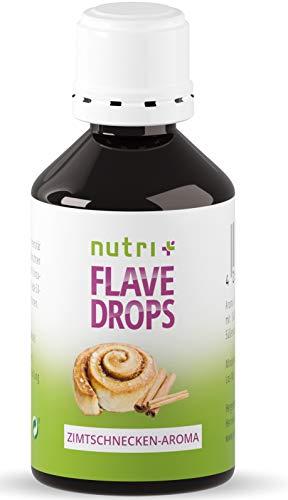 Flave Drops Zimtschnecke 50ml - Kalorienfreie Aromatropfen - Zimtaroma Süßungsmittel Geschmackskonzentrat - Cinnamon Flavor Drops Vegan - Lebensmittelaroma Zimt Flavour