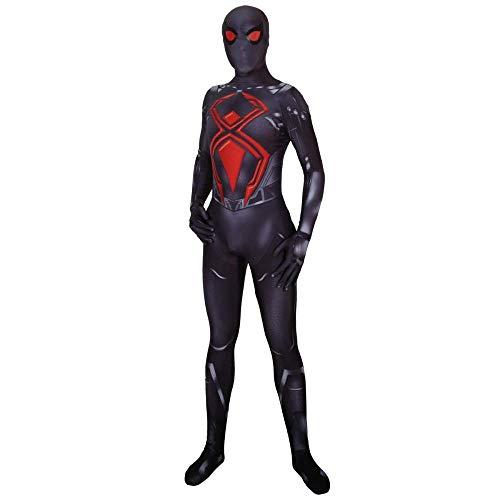 YQFZ 2019 NIEUWE PS4 Spiderman Cosplay Kostuum Zwart Battle Suit Fancy Dress Kostuum Rol Speel Kleding Bodysuit Spandex Jumpsuits
