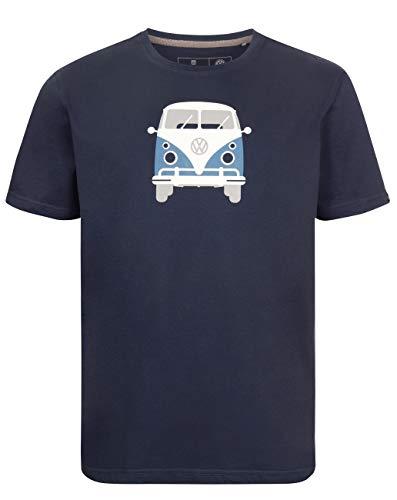 Elkline Herren T-Shirt Methusalem mit VW Bulli Print, Farbe:darkblue, Größe:L