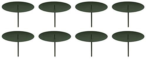 Novaliv 8X Kerzenpick | Dorn, 6 cm SCHWARZ | Kerzenhalter für Adventskranz Kerzenpin Weihnachtskranz