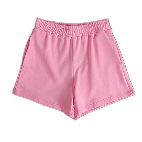 N\P Pantalones Cortos De Algodón Casual Sudor De Las Mujeres De Verano Elástico De Cintura Alta