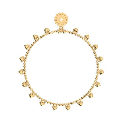 Lora di Lora Armband Bamba 18-Pashes. Een individueel bandje 18K Vermeil Goud voor Vrouwen 18 cm
